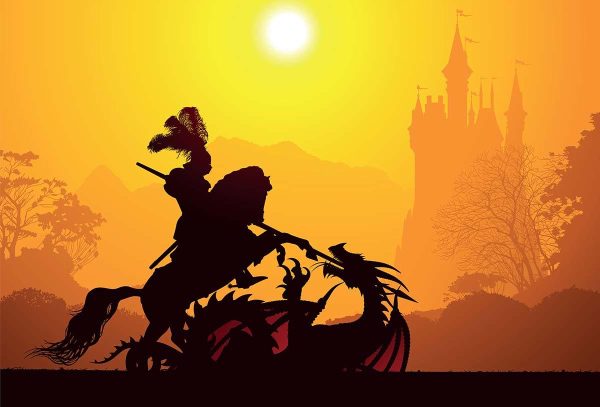 Ritter, Drachen, Tod und Teufel