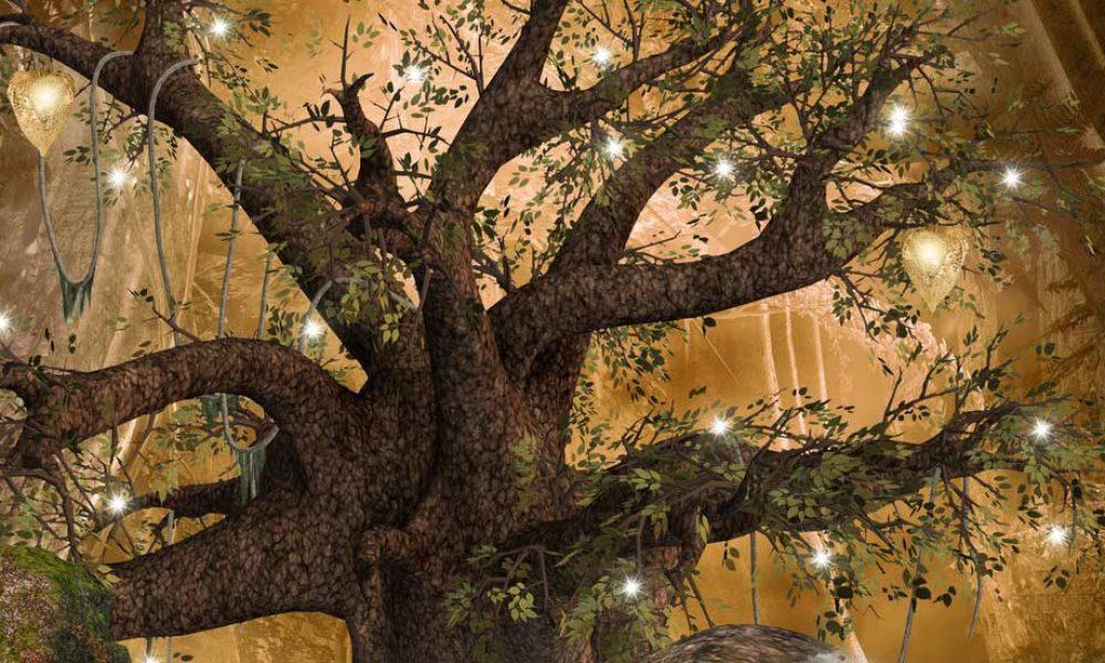 Weihnachtlicher Lichterbaum