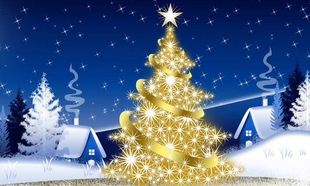 Goldener Weihnachtsbaum